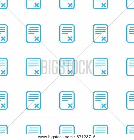 Unique Bad document seamless pattern