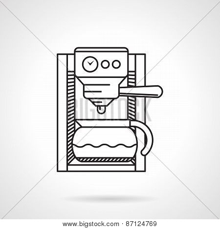 Coffeemaker black line vector icon