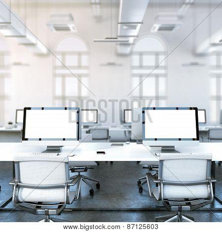 Loft studio. 3d rendering