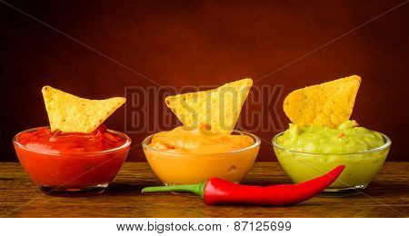 Tortilla Chips And Nacho Dip