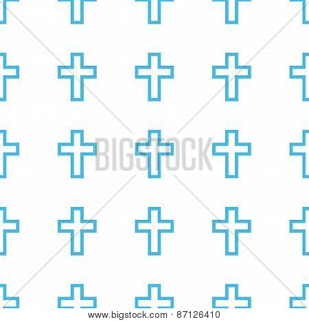 Unique Protestant Cross seamless pattern