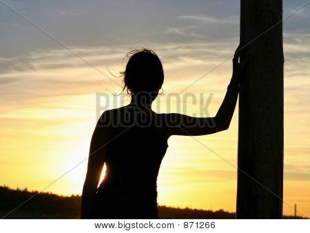 girl having a sunset rest 2