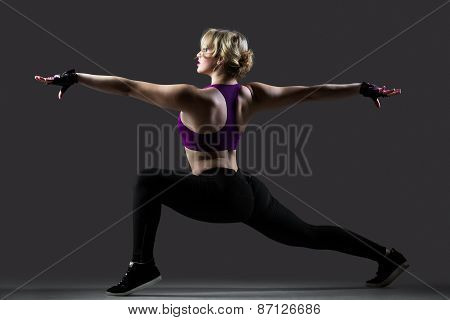 Lunge Exercises With Stretched Arms