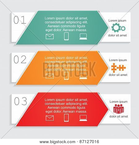 Infographic card report template. Vector illustration