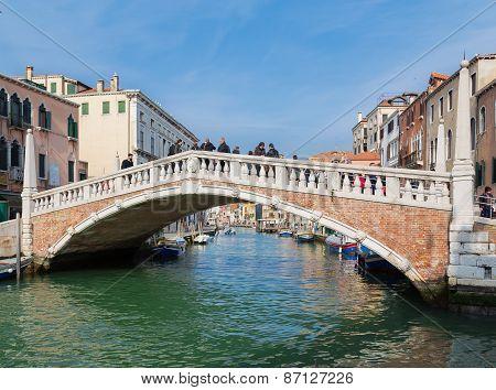Bridge In The Cannaregio District