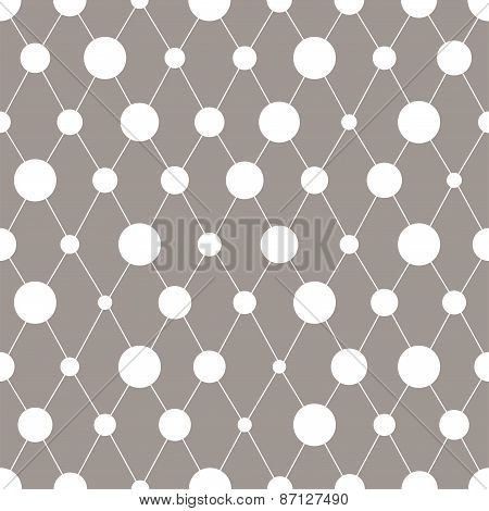 Abstract seamless pattern with circles. Vector illustration