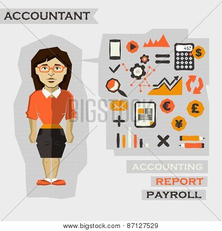 Accountant. Freelance Infographic.