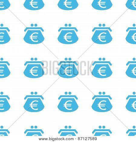 Unique Euro purse seamless pattern