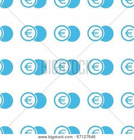 Unique Euro coin seamless pattern