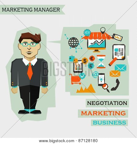 Marketing Manager. Freelance Infographic.