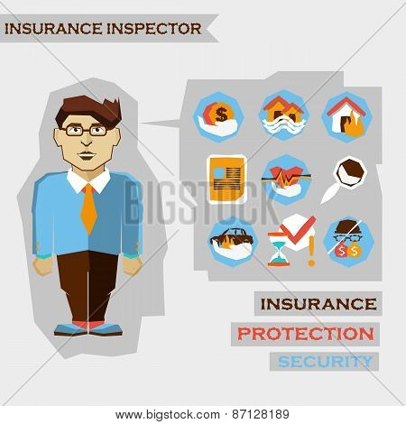 Insurance Inspector. Freelance Infographic.
