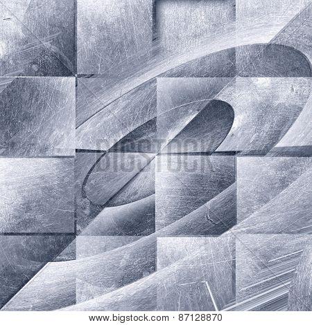metal grunge texture of old tiles