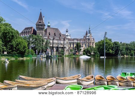 Budapest, Hungary - June 19: Famous Vajdahunyad Castle