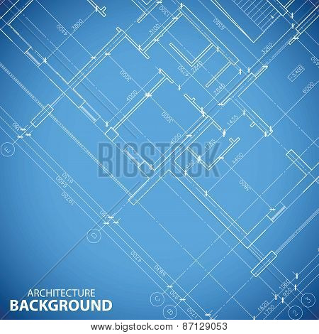 Blueprint building plan background