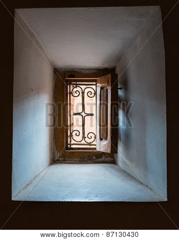 The Traditional Window Of Kasbah De Taourirt From Inside Out