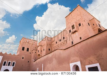 Kasbah De Taourirt With Blue Sky And Cloud