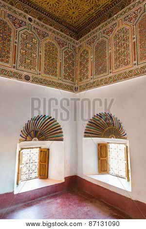 The Colorful Carve Of Kasbah De Taourirt As Arabian Style