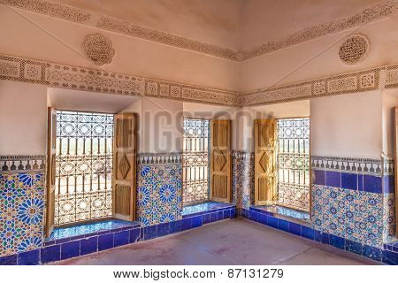 The Colorful Tiles Of Kasbah De Taourirt As Arabian Style