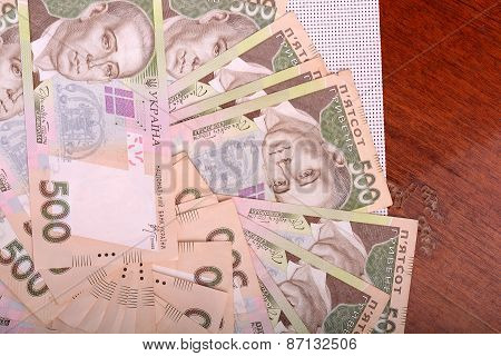 Background Of The Ukrainian Money Hryvnia
