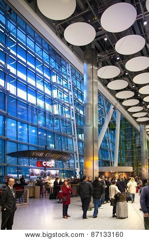 LONDON, UK - MARCH 28, 2015: Heathrow airport Terminal 5.