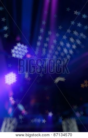 Bokeh background color disco