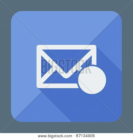 Mail icon, envelope with place for sign. Flat design vector illustration.