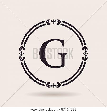 Vector frames design emblems. Vintage labels and badges for logos quality