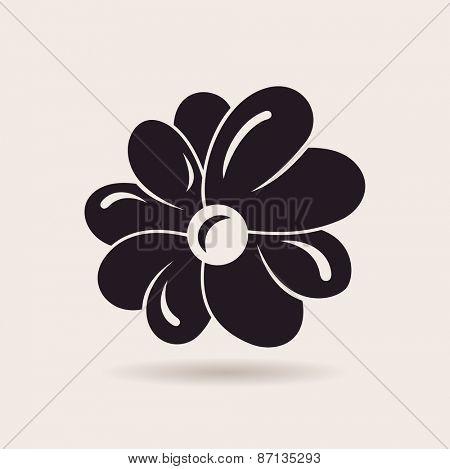 Flower logo. Vector sign emblem isolated