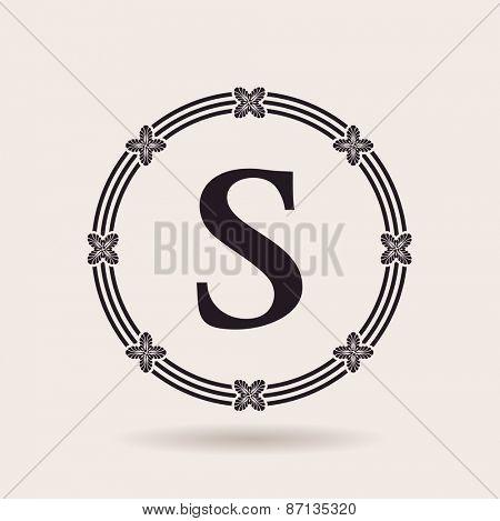 Vector frame design emblem. Vintage labels and badges for logo quality