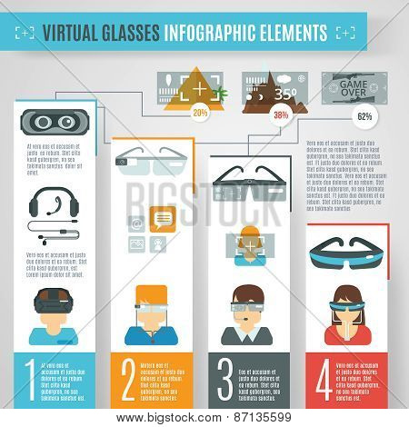 Virtual Glasses Infographics