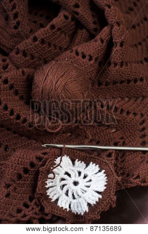 Crochet Brown Yarn
