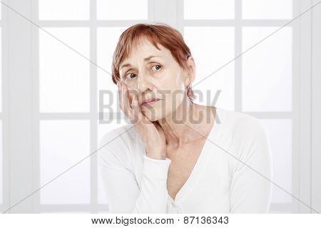 Sixty years woman portrait