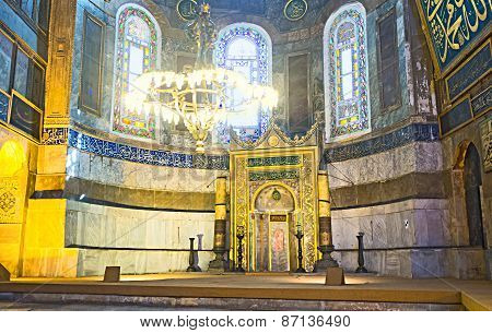 The Apse Of Hagia Sophia