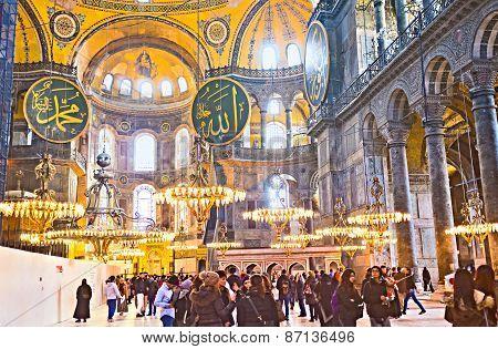 In Hagia Sophia Museum