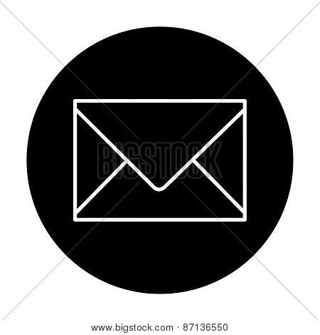 vector envelope icon. Vector illustration.  Email sign.
