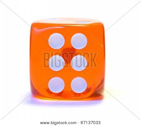 Red dice, number six