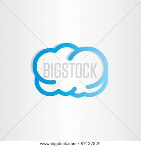 Blue Cloud Icon Design