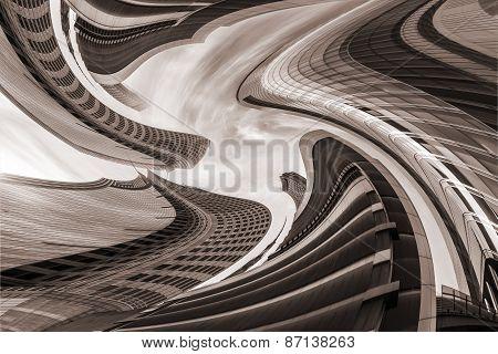Architectural Vertigo, brown