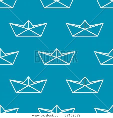 Seamless pattern with paper boats. Vector illustration.