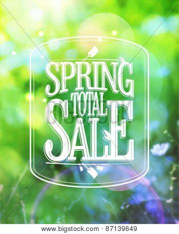 Spring total sale design.