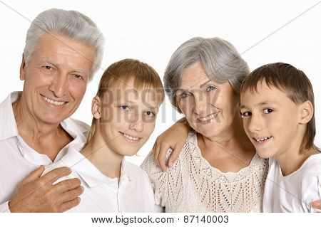 grandparents and their two grandchildren
