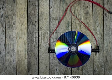 Listen Music From Cd Disc,technology Concept, Background