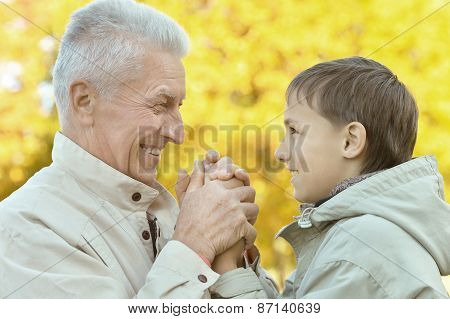 Grandfather with boy