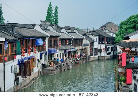 Shanghai Zhujiajiao town with historic buildings