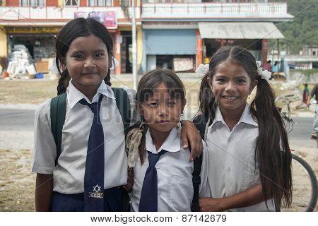 Nepalese Schoolgirl