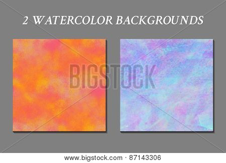 Set of watercolor background