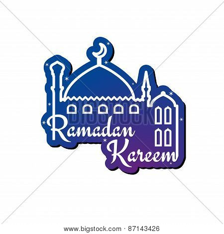 Ramadan Kareem greeting card design template