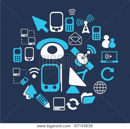 phone, smartphone, cell isolated icons, signs, illustrations concept website internet design set, vector
