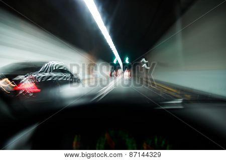Speeding Car Driving
