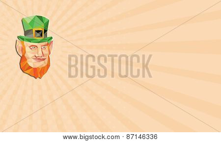 Business Card Leprechaun Head Low Polygon